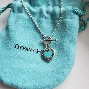 Retired Tiffany Love Heart Toggle Bracelet
